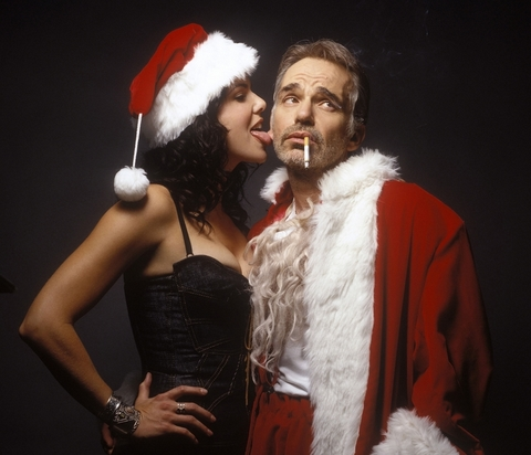 Billy Bob Thornton and Mrs. Santa